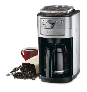 Cuisinart DGB-700BC Grind-and-Brew 12-Cup Automatic Coffeemaker, Brushed Chrome, Black